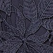 Floral Lace A-Line Midi Skirt, NAVY, swatch