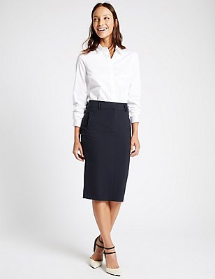 Pencil Skirt, NAVY, catlanding