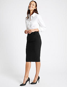 Pencil Skirt, BLACK, catlanding