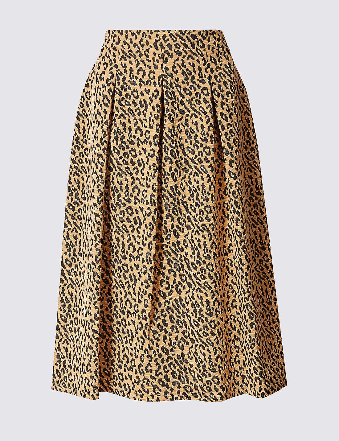 Animal Print A-Line Midi Skirt | M&S