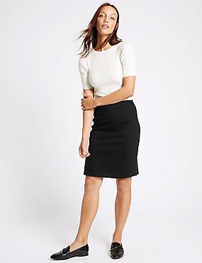 A-Line Mini Skirt, BLACK, catlanding