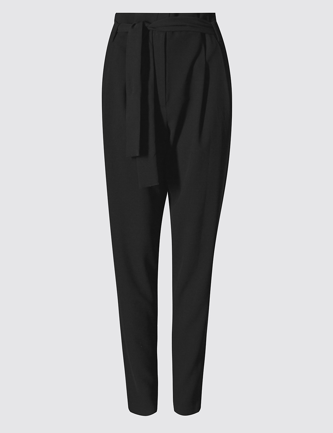 Paper bag trousers - Tapered Paperbag Trousers