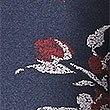 Glockenrock mit Blumendesign, MARINEBLAU MELANGE, swatch