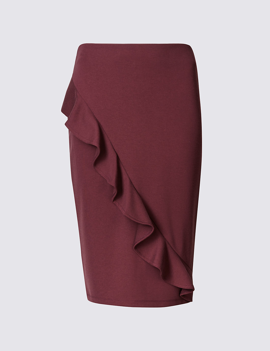 Ruffle Pencil Midi Skirt | M&S