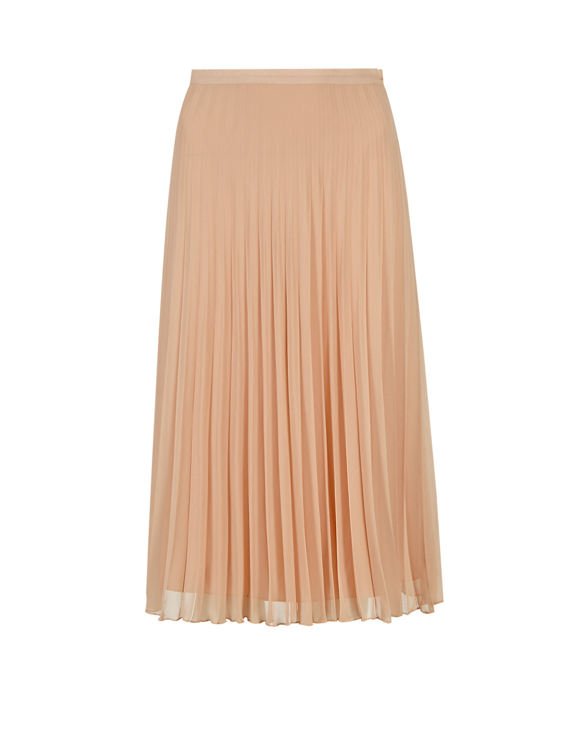 Pleated Knee Length A-Line Skirt | M&S