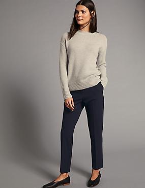 Slim Leg Trousers, NAVY, catlanding