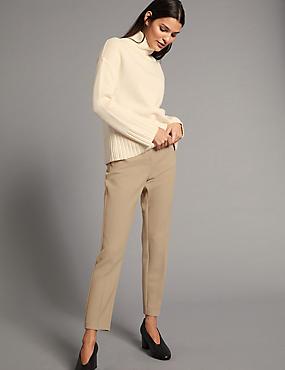 Slim Leg Trousers, MEDIUM BEIGE, catlanding