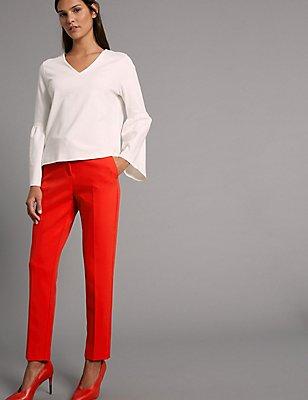 Pantalon slim, COQUELICOT, catlanding