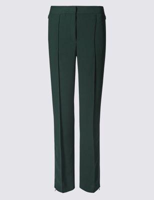 Прямые брюки со средней посадкой по линии талии