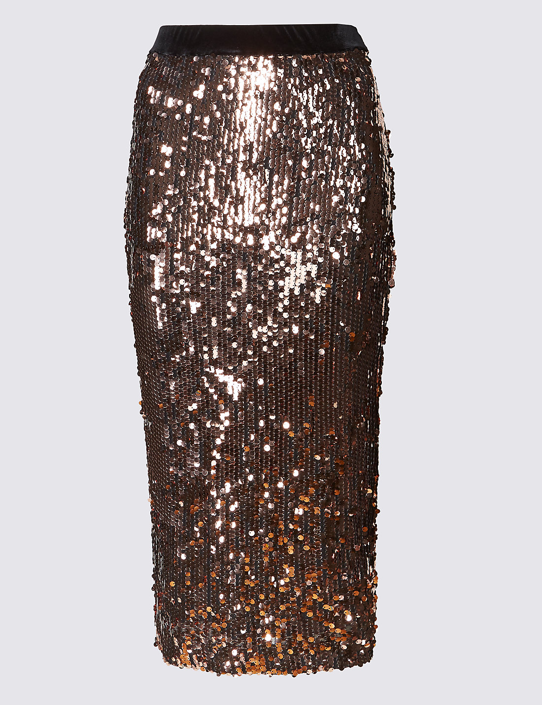 Sequin Midi Pencil Skirt | M&S