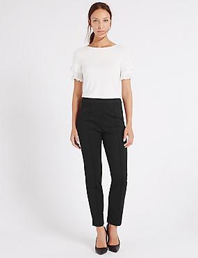 Pantalon slim sans pinces, NOIR, catlanding