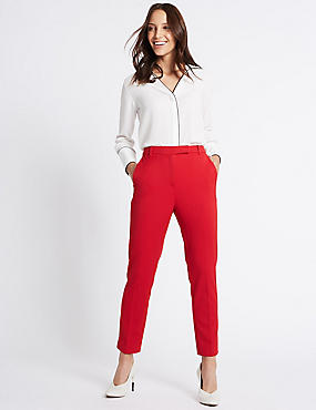 Slim Leg Trousers, LACQUER RED, catlanding