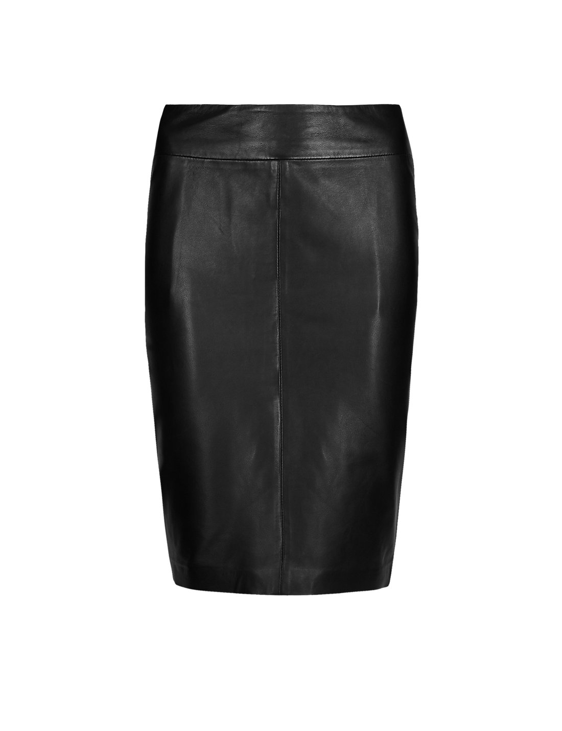 PETITE Leather Ponte Pencil Skirt | M&S
