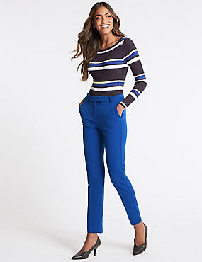 Slim Leg Trousers, COBALT, catlanding