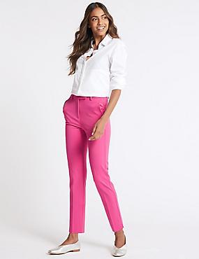 Slim Leg Trousers, HOT PINK, catlanding