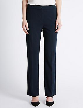 Straight Leg Trousers, DARK NAVY, catlanding