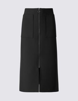 Офисная юбка-миди с карманами