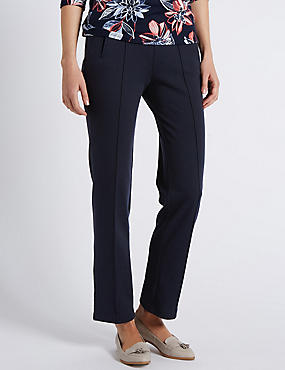 Plus Straight Leg Trousers, NAVY, catlanding