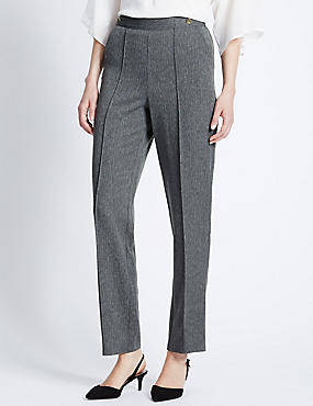 Plus Straight Leg Trousers, CHARCOAL, catlanding