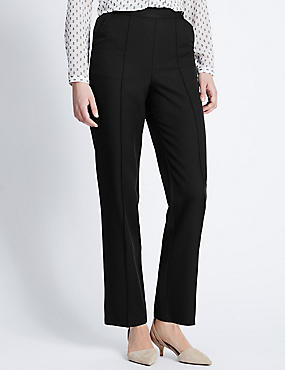 Plus Straight Leg Trousers, , catlanding
