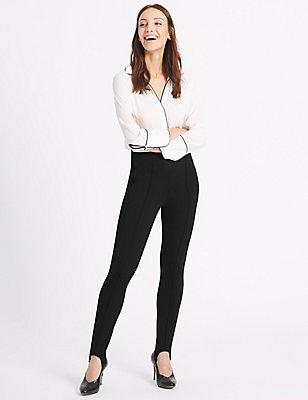 Ponte Skinny Leg Trousers, BLACK, catlanding