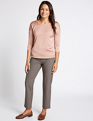 Straight Leg Trousers, GREY MIX, catlanding