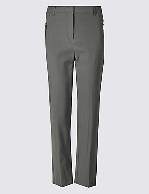 Straight Leg Trousers, CHARCOAL, catlanding