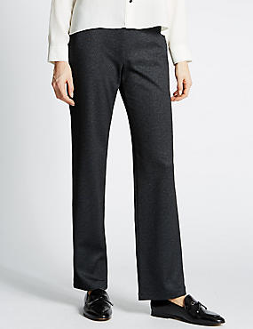 Textured Straight Leg Trousers, GREY MIX, catlanding