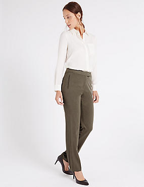 Straight Leg Trousers, NEUTRAL, catlanding