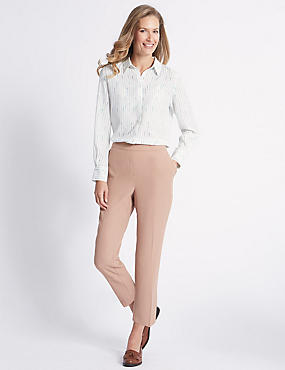 Straight Leg Trousers, NATURAL TAN, catlanding