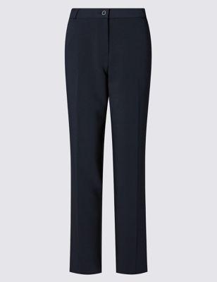 Прямые брюки с декоративной строчкой на шлёвках