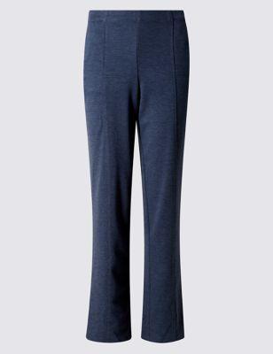 Прямые трикотажные брюки Design Ponte от Marks & Spencer
