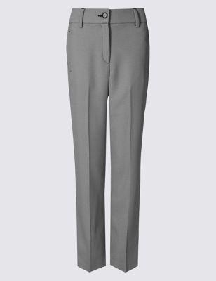 Прямые брюки с микропринтом и стрелками