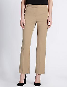 Twin Zip Pocket Straight Leg Trousers, CAMEL, catlanding