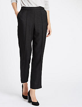 Straight Leg Trousers, GREY, catlanding