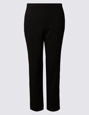 Прямые брюки с комфортным поясом от Marks & Spencer