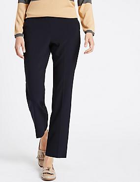 Pantalon coupe droite, BLEU MARINE, catlanding