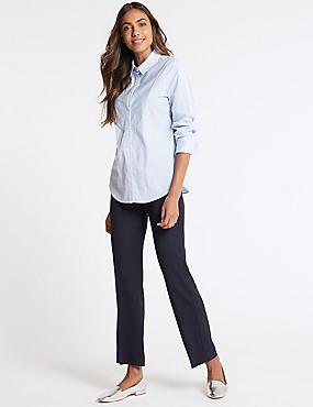Textured Trousers, NAVY MIX, catlanding