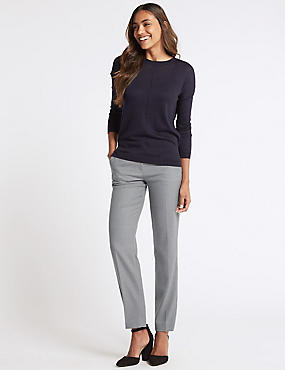 Textured Trousers, GREY, catlanding