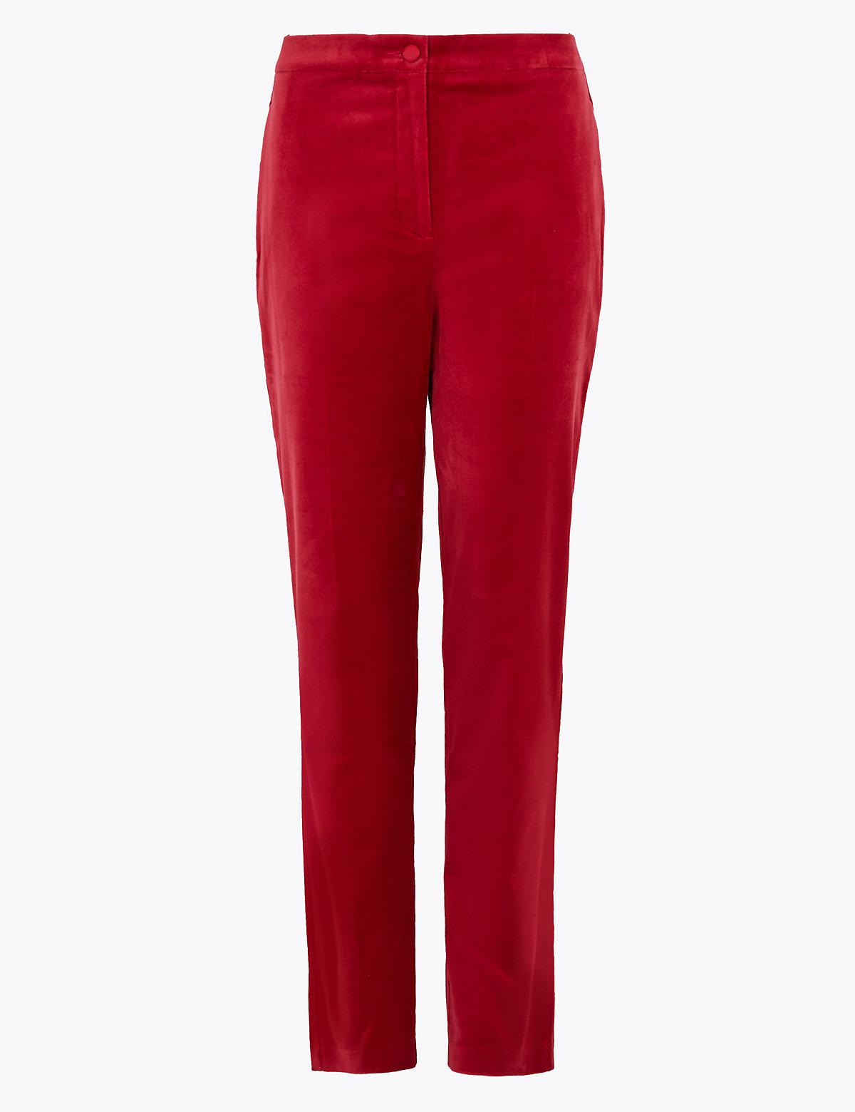 Узкие бархатные брюки Mia до щиколотки