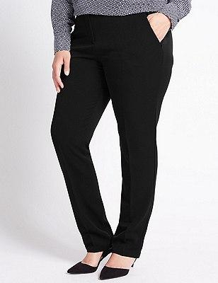 PLUS Modern Slim Leg Trousers, BLACK, catlanding
