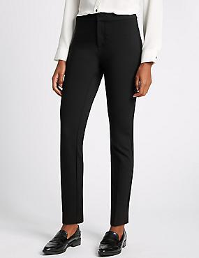 Secret Slimming Slim Leg Trousers, BLACK, catlanding