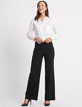 Pablo Wide Leg Trousers, BLACK, catlanding