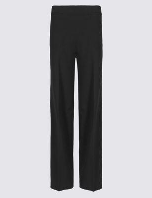 Широкие офисные брюки с высокой посадкой от Marks & Spencer