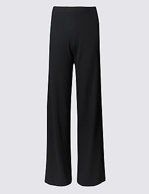 PLUS Wide Leg Trousers, BLACK, catlanding