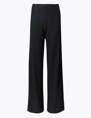 Широкие трикотажные брюки с добавлением эластана