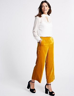 Velvet Trousers, GOLD, catlanding