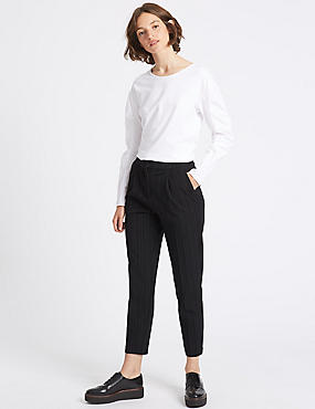 Pantalon fuselé à rayures, INDIGO ASSORTI, catlanding