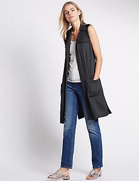 Sleeveless Jacket, SLATE, catlanding
