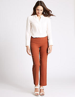 Tapered Leg Trousers, TERRACOTTA, catlanding